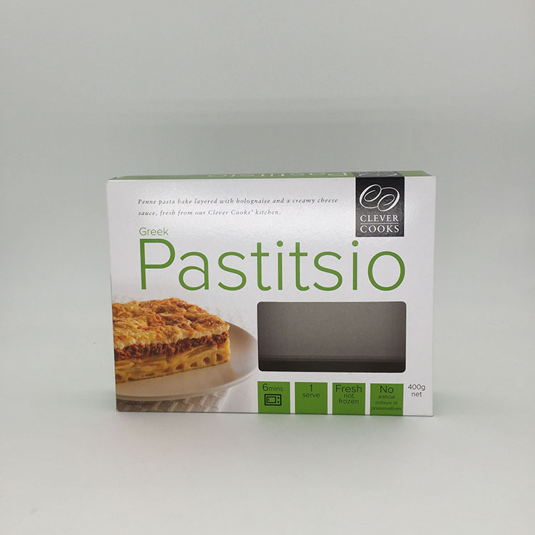 Custom Grey Board Paper Pie Box with Window